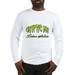 Cryptic Ink Tattoo Studio Logo Green Long Sleeve T