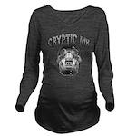 Cryptic Ink Skull Long Sleeve Maternity T-Shirt