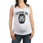 Cryptic Ink Skull Maternity Tank Top