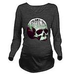 Cryptic Ink Retro Skull Long Sleeve Maternity T-Sh