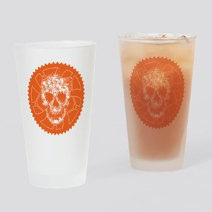 Chainring skull  Drinking Glass