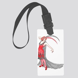 Scarlet Flapper Luggage Tag