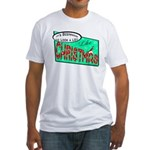 Retro Christmas Fitted T-Shirt