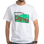 Retro Christmas White T-Shirt