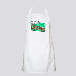 Retro Christmas BBQ Apron