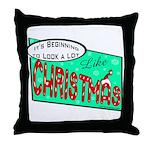 Retro Christmas Throw Pillow