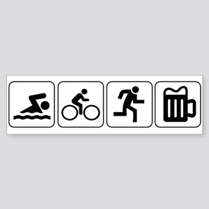 Swim Bike Run Drink Sticker (Bumper)