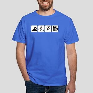 Swim Bike Run Drink Dark T-Shirt