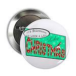 Retro Christmas Button