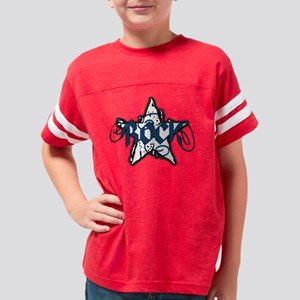 RockStarDistbluetrans Youth Football Shirt