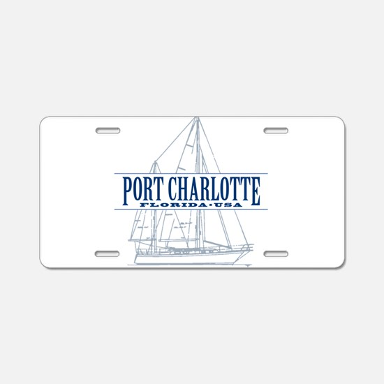 Port Charlotte - Aluminum License Plate