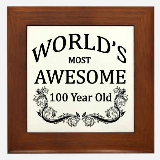 World's Most Awesome 100 Year Old Framed Tile