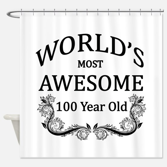 World's Most Awesome 100 Year Old Shower Curtain