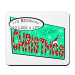 Retro Christmas Mousepad