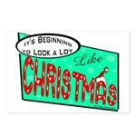 Retro Christmas Postcards (Package of 8)