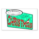 Retro Christmas Rectangle Sticker