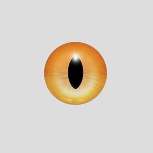 Kitten's Orange Eye - Halloween Mini Button