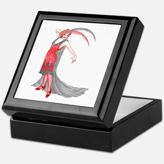 Scarlet Flapper Keepsake Box