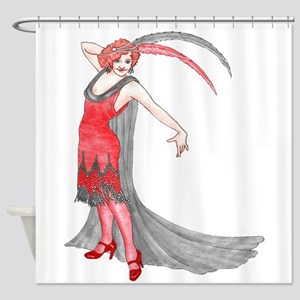 Scarlet Flapper Shower Curtain
