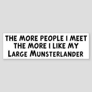 Large Munsterlander: people I Bumper Sticker