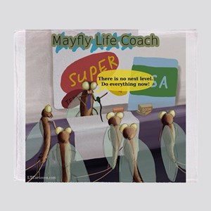 Mayfly Life Coach Throw Blanket