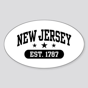 New Jersey Est. 1787 Sticker (Oval)