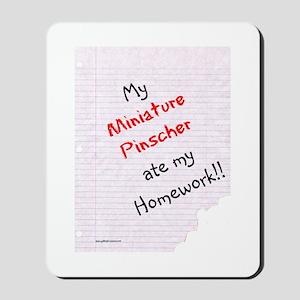 Min Pin Homework Mousepad