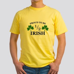 Proud to Be 1/2 Irish Yellow T-Shirt