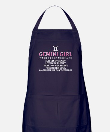 Gemini Girl Hated By Many Loved By Pl Apron (dark)