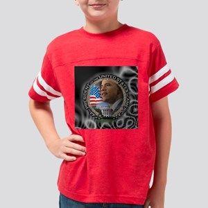 Obama Inauguration water colo Youth Football Shirt