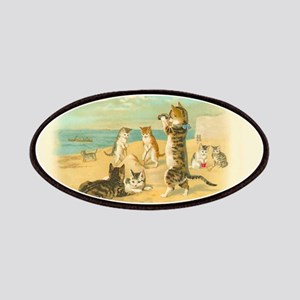 Cute Vintage Cats on the Beach Patches