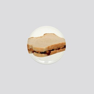 Peanut Butter and Jelly Sandwich Mini Button