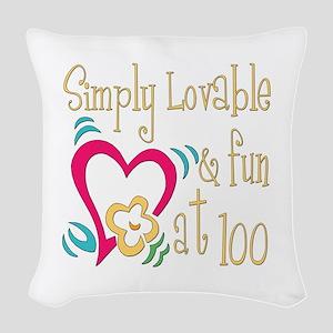 Lovable100 Woven Throw Pillow
