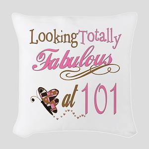 FabPinkBrown101 Woven Throw Pillow