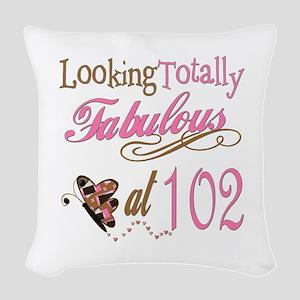 FabPinkBrown102 Woven Throw Pillow