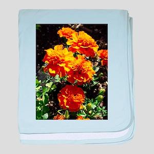 Autumn Marigolds baby blanket