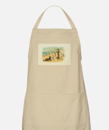 Cute Vintage Cats on the Beach Apron