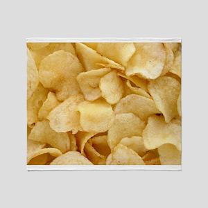 Potato Chips Throw Blanket