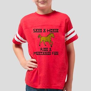 ride a mustangs fan Youth Football Shirt