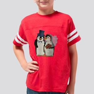 PenguinWedding-redroses Youth Football Shirt