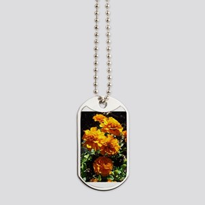 Autumn Marigolds Dog Tags