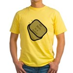 My Mom is a Sailor dog tag Yellow T-Shirt