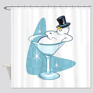 Snowmantini Shower Curtain