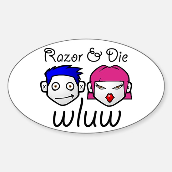 Razor and Die Oval Decal
