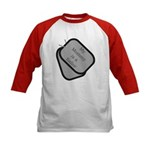 My Mommy is a Sailor dog tag Kids Baseball Jersey