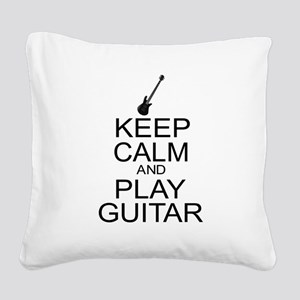 Keep Calm Play Guitar (Electric) Square Canvas Pil