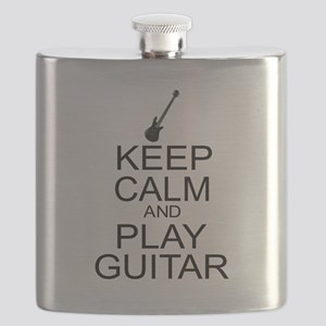 Keep Calm Play Guitar (Electric) Flask