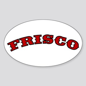FRISCO ARCH Oval Sticker