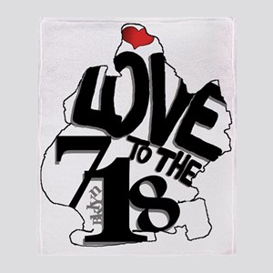 Love to the 718 (Brooklyn) Throw Blanket