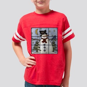 starrynightsnowmantictactoe,b Youth Football Shirt
